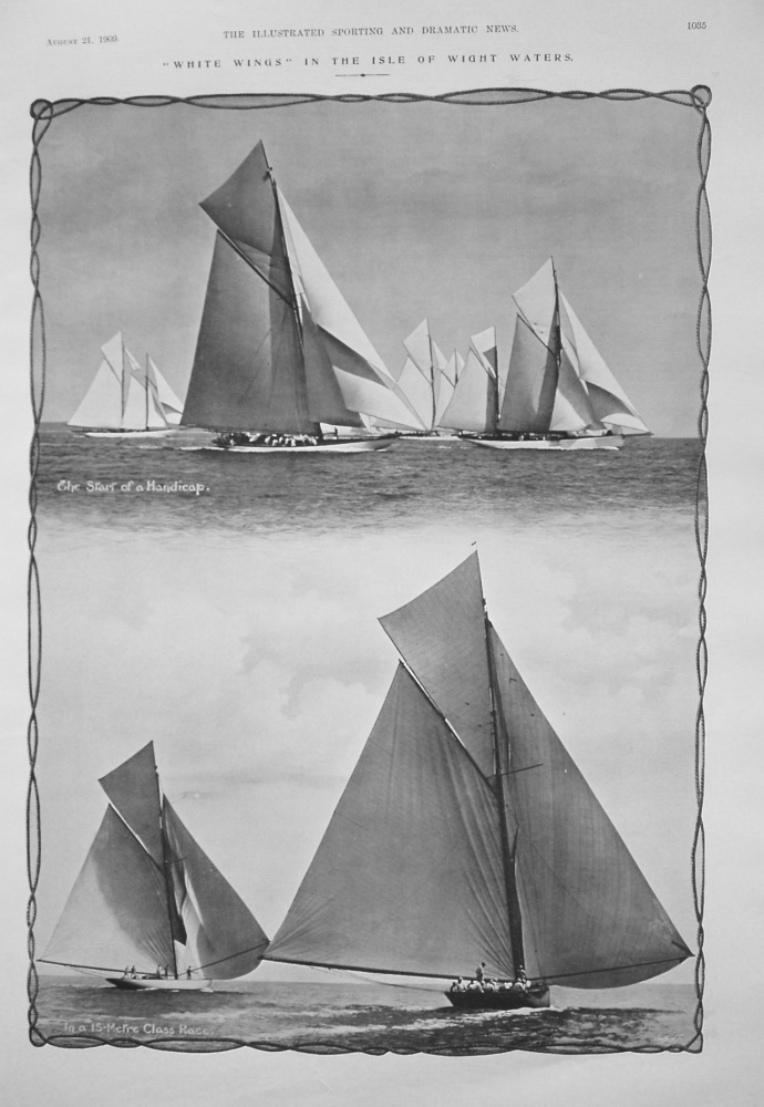 """White Wings"" in the Isle of Wight Waters. 1909"