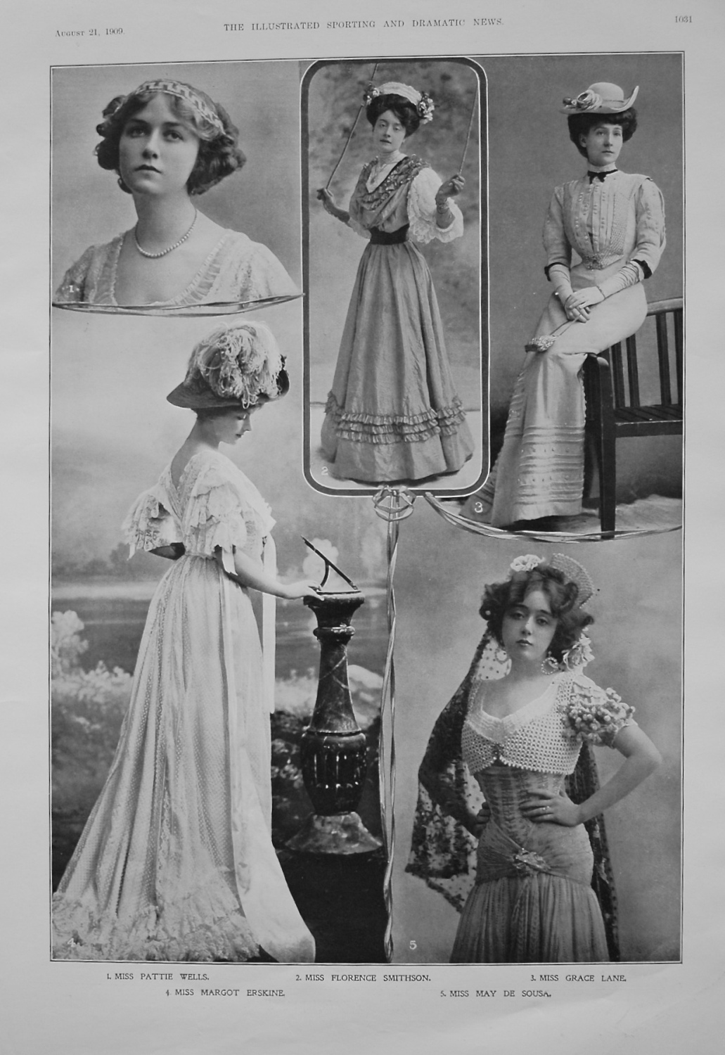 Actresses from the Stage. August 21st 1909.