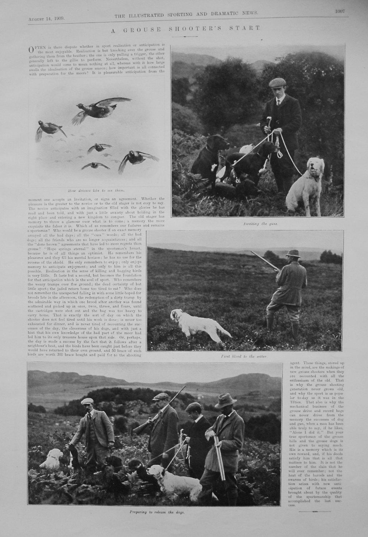 A Grouse Shooter's Start. 1909
