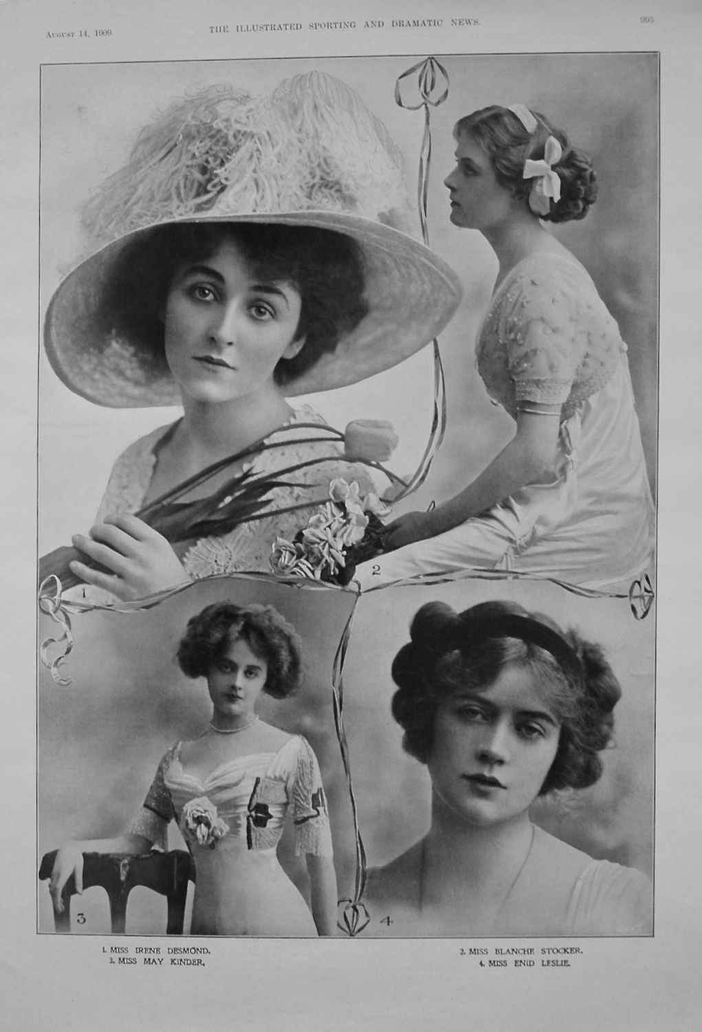 Actresses from the Stage. August 14th 1909.