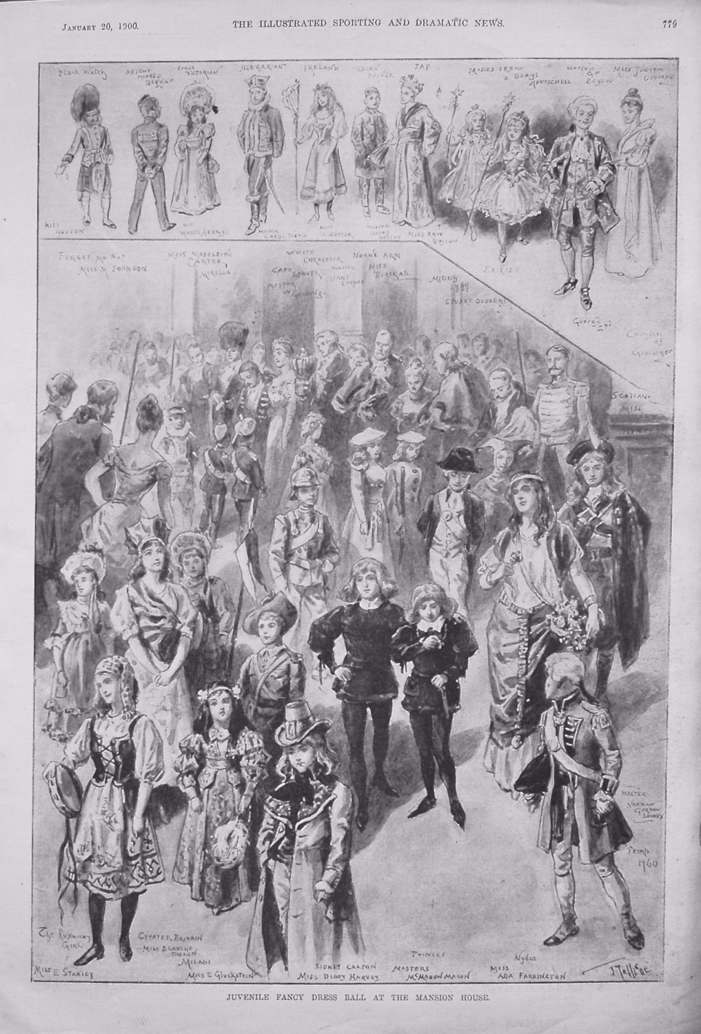 Juvenile Fancy Dress Ball at the Mansion House. 1900