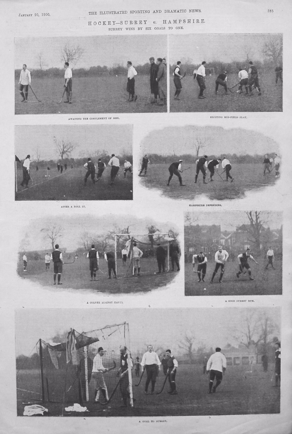 Hockey - Surrey v. Hampshire. 1900