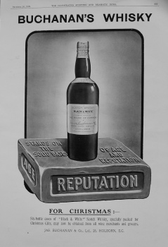 Buchanan's Whisky. 1909