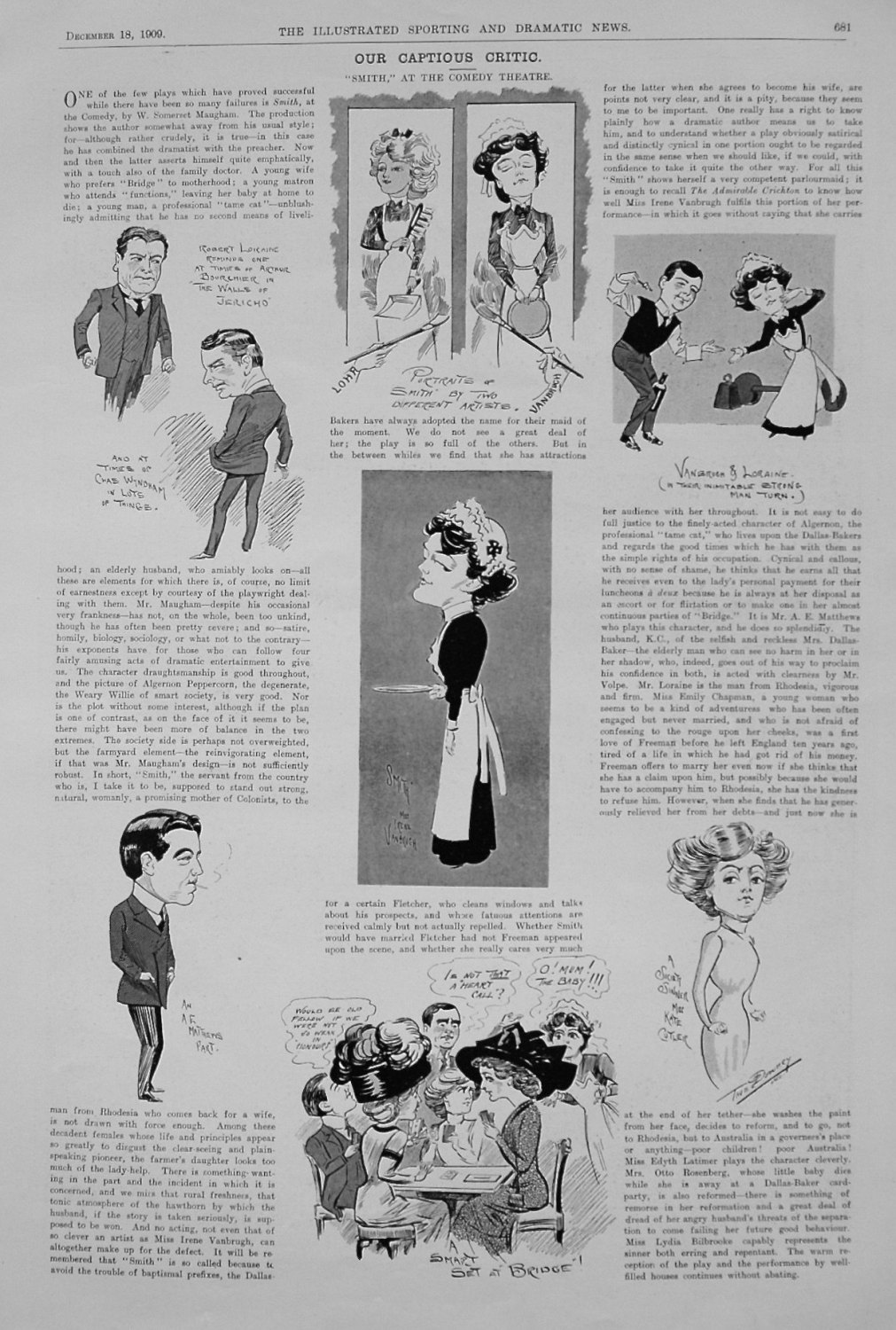 Our Captious Critic. December 18th 1909