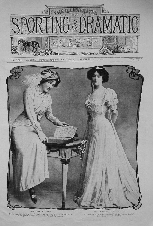 Miss Ruth Vincent, and Miss Marguerite Leslie. 1909
