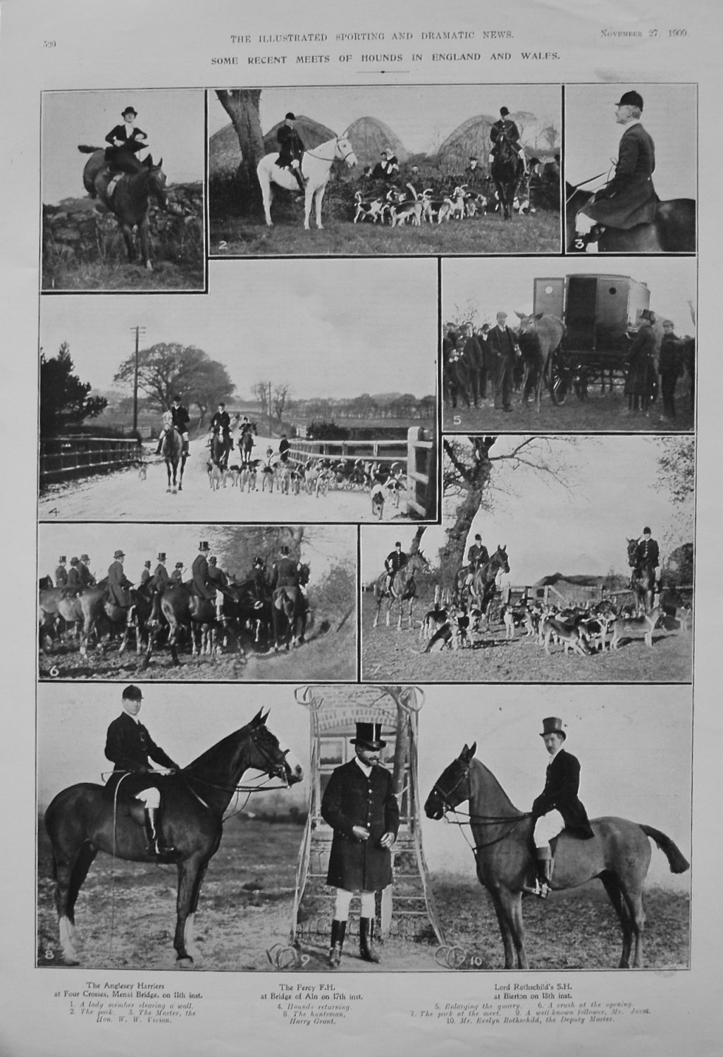 Some Recent Meets of Hounds in England and Wales. 1909