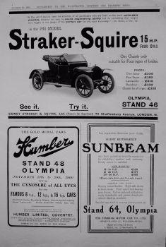 Motoring Adverts. November 1909.