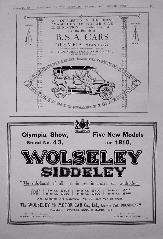Motoring Adverts. November 13th 1909