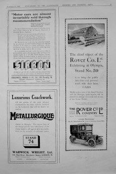 Motoring Adverts. 1909