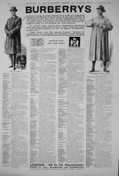 Burberrys. November 1909