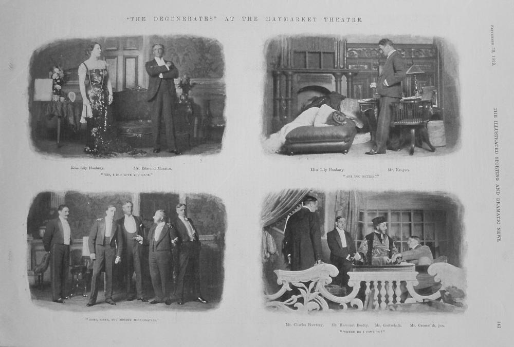 """The Degenerates"" at the Haymarket Theatre. 1899"
