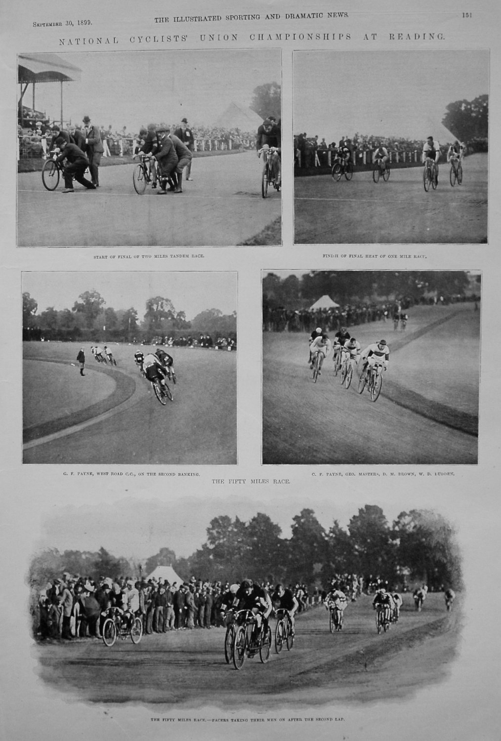 National Cyclists' Union Championships at Reading. 1899