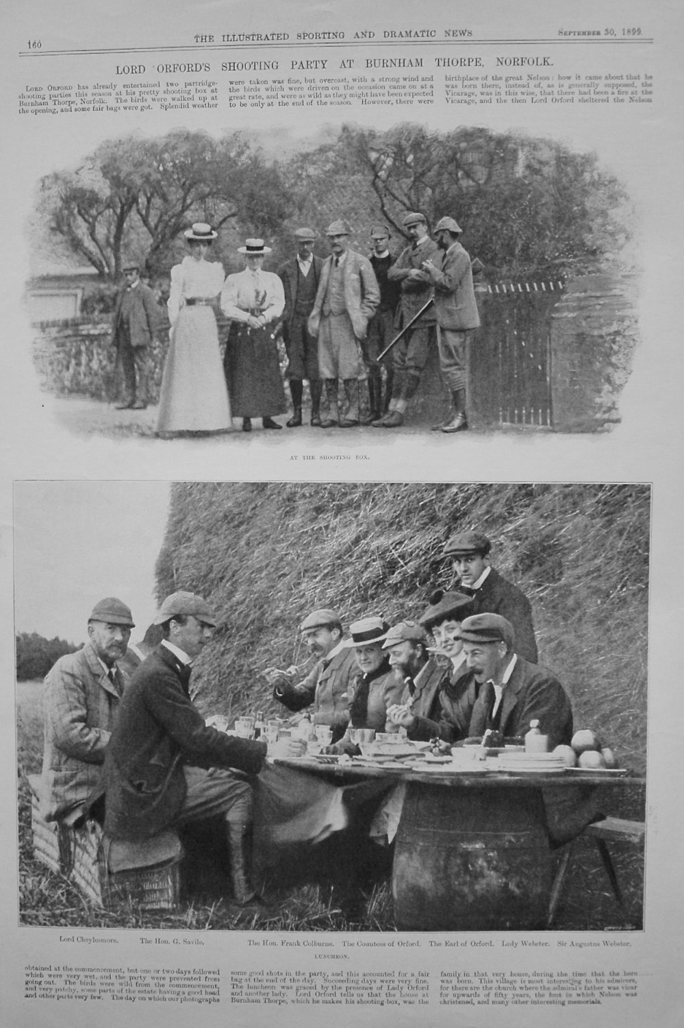 Lord Orford's Shooting Party at Burnham Thorpe, Norfolk. 1899