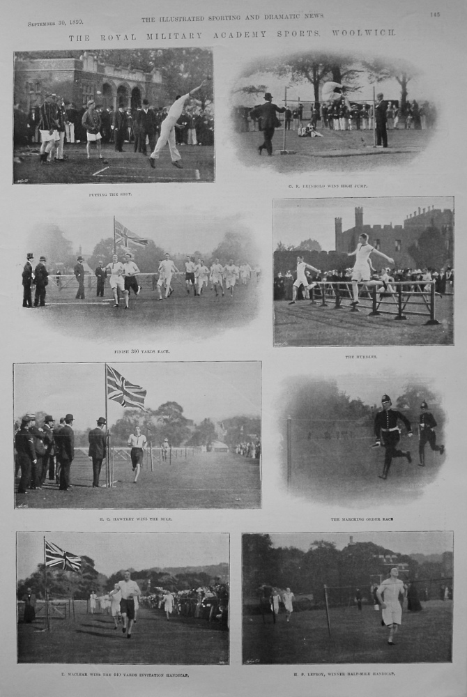 Royal Military Academy Sports, Woolwich. 1899