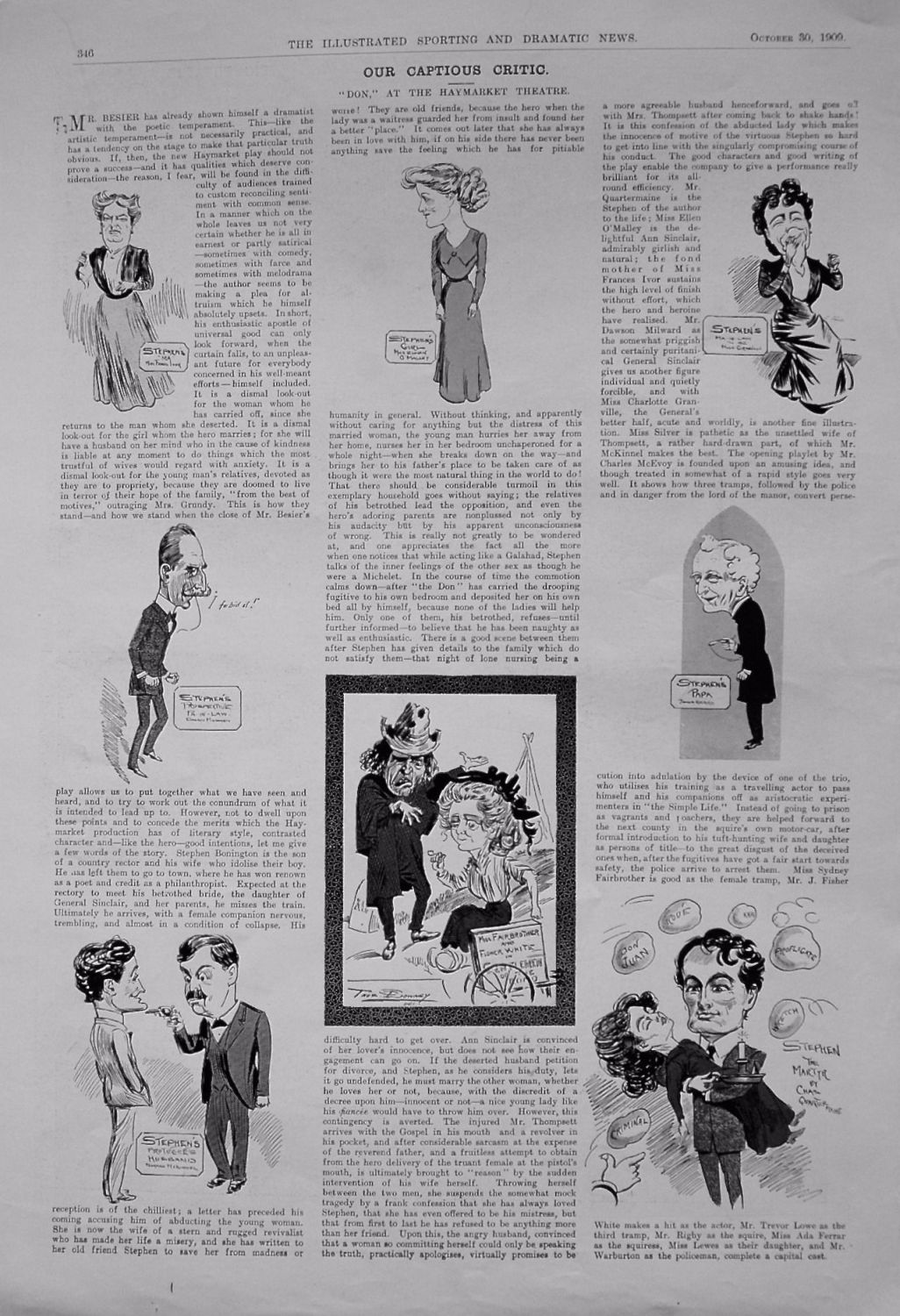 Our Captious Critic. October 30th 1909.