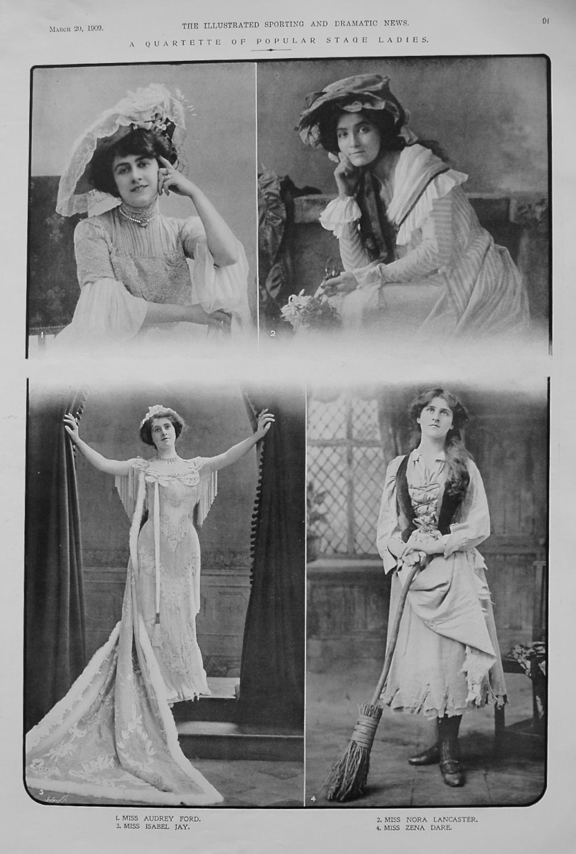 A Quartette of Popular Stage Ladies. 1909