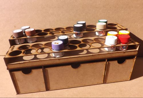 36 Pots tier style for Tamiya Acrylic and Deep storage draws