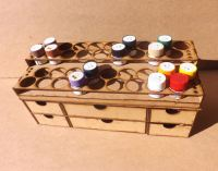 36 Pots tier style for Tamiya Acrylic and storage drawers