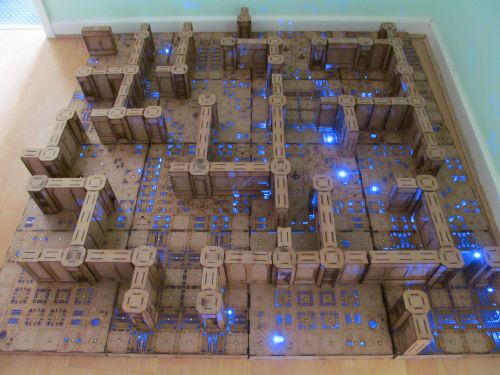 3x3 Area 51 Dungeon board.