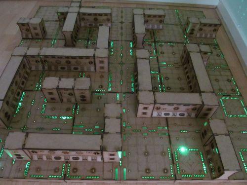 3x3 Cyberspace corridors Dungeon board.