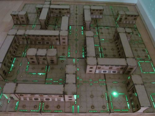 4x4 Cyberspace corridors Dungeon board.