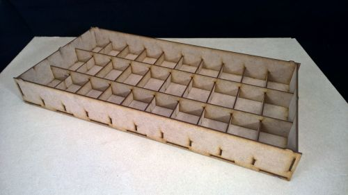4 storage trays for large troops on 25mm bases