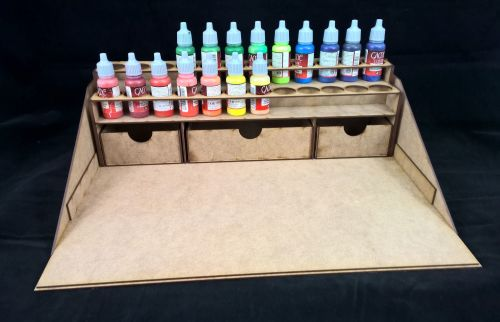 Hobby workstaion for vallejo, tomholtz, warpaints and other dropper paints