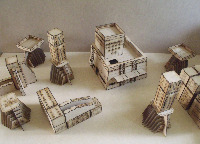28mm Scifi Alien buildings