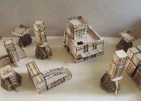 28mm Scifi Alien buildings