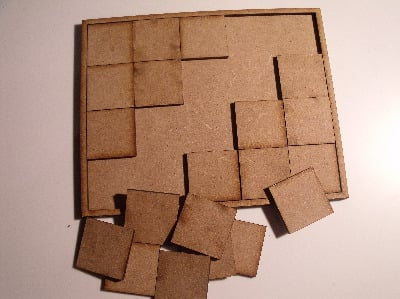 Wood Movement trays A 20 bases 107mmx132mm