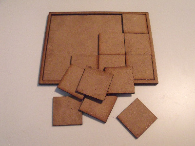 Wood Movement trays C 12 bases 82mmx107mm