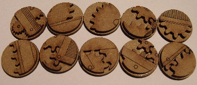 10x25mm mechanical cogs