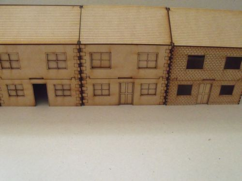 Two Storey houses - 28mm scale - pack of 4