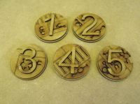 Alien rune 40mm Markers, (Objectives and hull points)