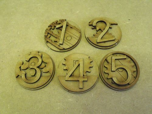 Mechanical cog 40mm Markers, (Objectives and hull points)