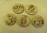 Ancient rune 40mm Markers, (Objectives and hull points)