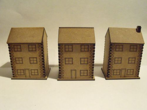 10mm Stone Town Houses with windows (Three Storey)