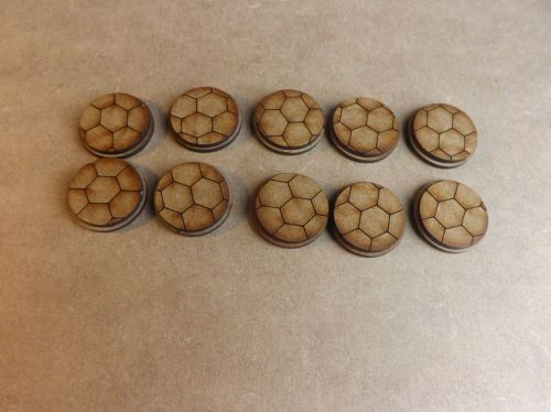 10x25mm Hexagon bases