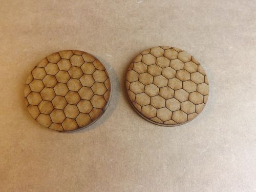2x60mm Hexagon bases