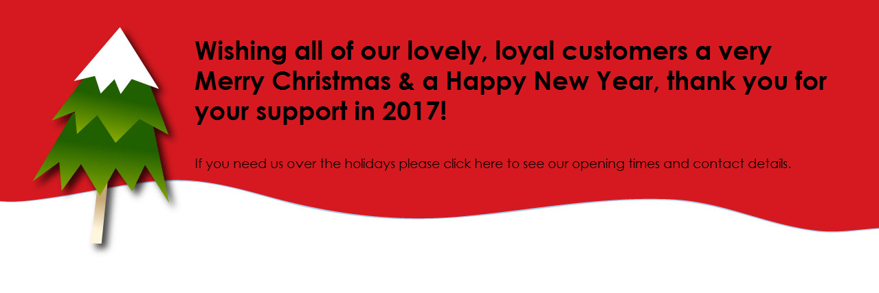 Wishing all of our lovely, loyal customers a very Merry Chirstmas & a Happy New Year.