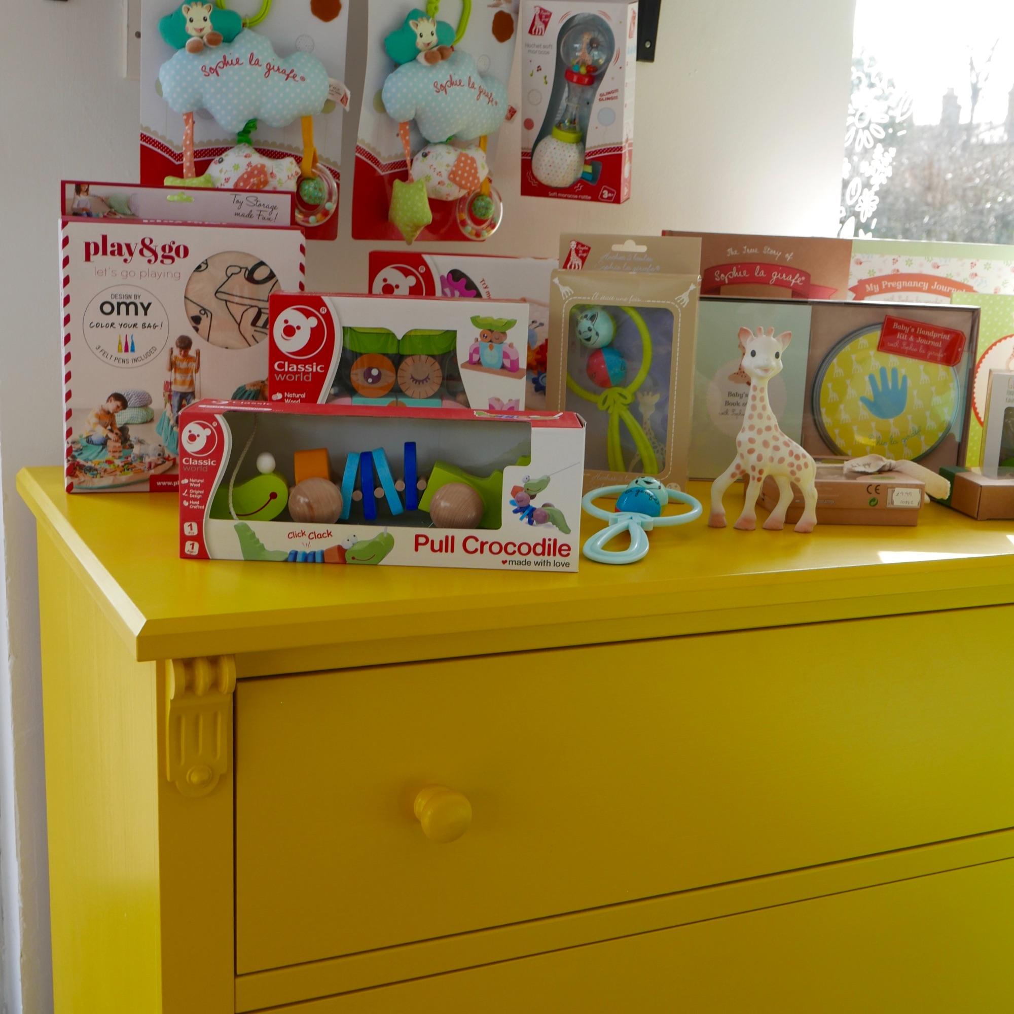 Wooden toys & Sophie Giraffe gift sets