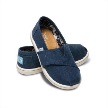 TINY TOMS AVALON NAVY SLUBBY