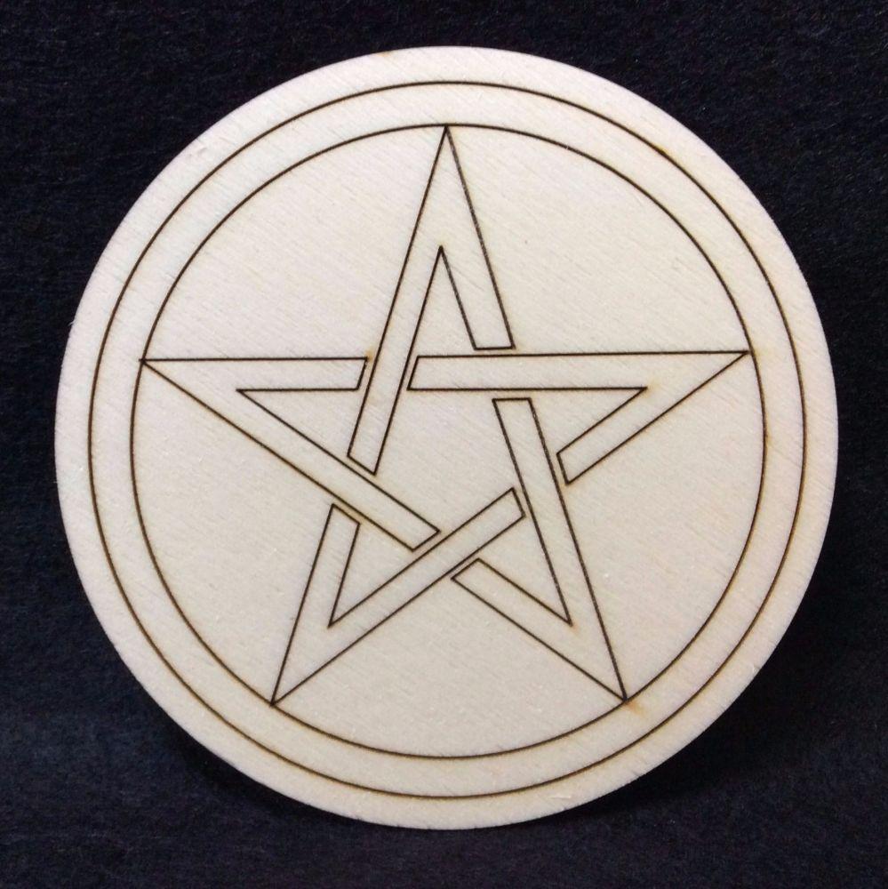 Handcrafted Pentagram Altar Tile
