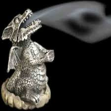 Dragon Incense Cone Burner ~ Silver