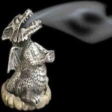 Dragon Incense Cone Burner ~ Silver