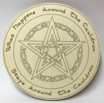"Altar Board  "" What happens around the Cauldron ~ Stays around the Cauldron"""
