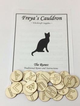 Rune Starter Kit ~ Runes with  Information Leaflet