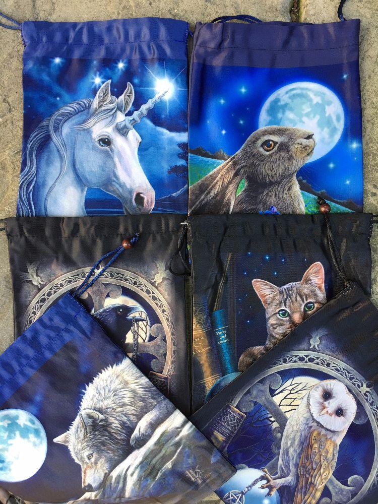 Lisa Parker Silk Drawstring Bags