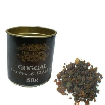 Guggal Incense Resin in 50g Tubs