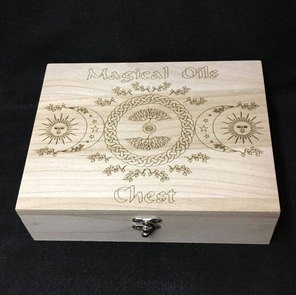 A Stunning Wooden Box for our Magical Oil Vials